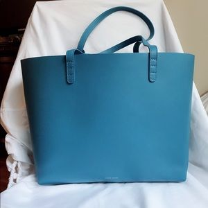 Mansur Gavriel Large Royal Blue Leather tote